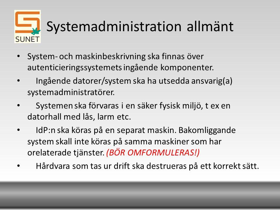 Systemadministration allmänt