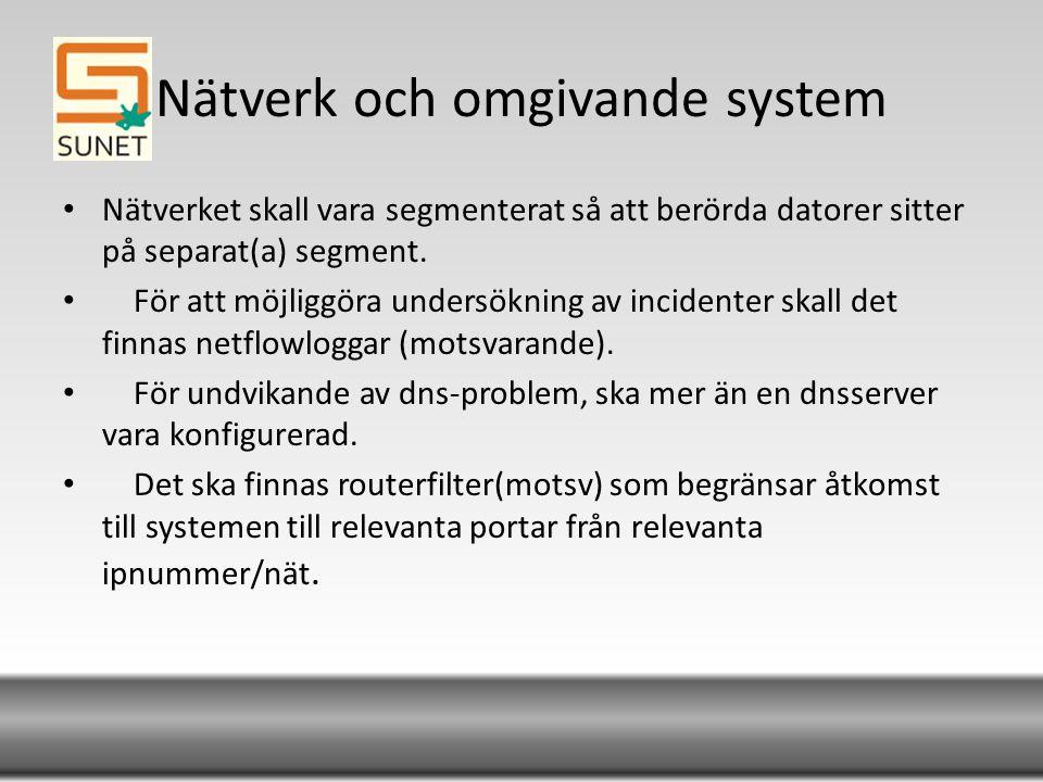 Nätverk och omgivande system