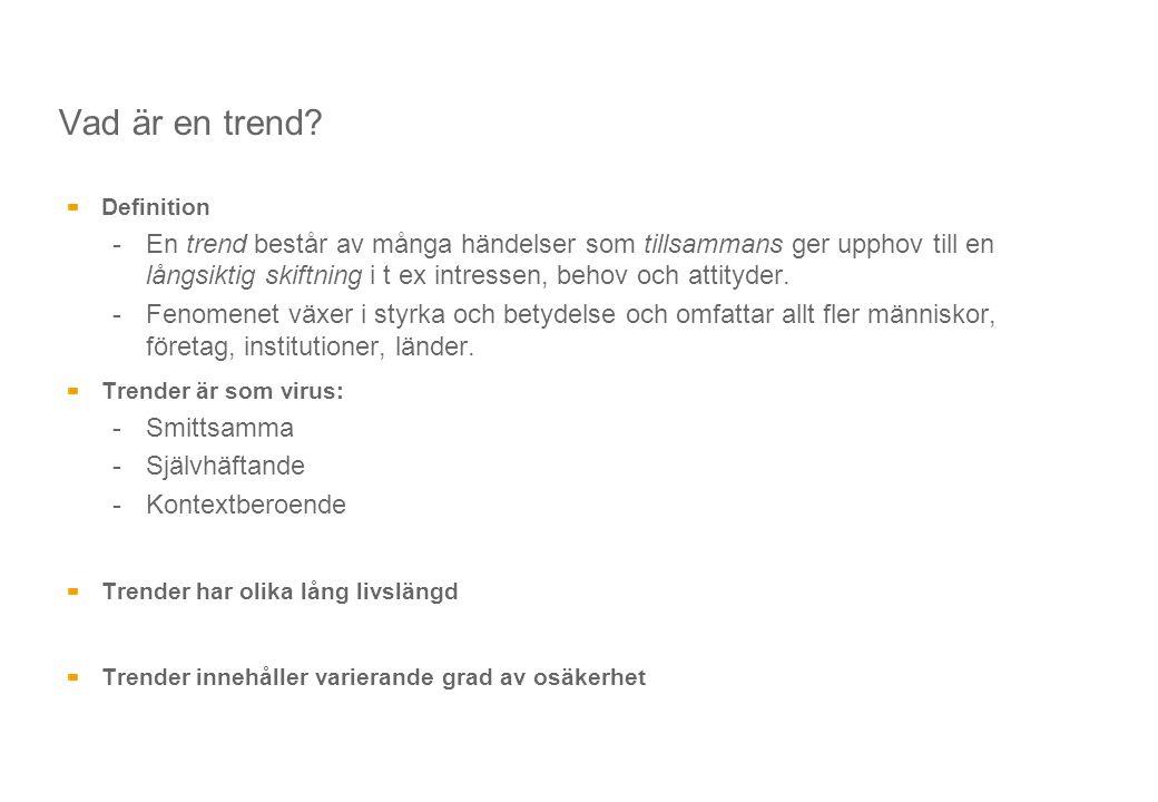 Vad är en trend Definition.