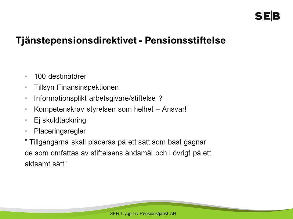Tjänstepensionsdirektivet - Pensionsstiftelse