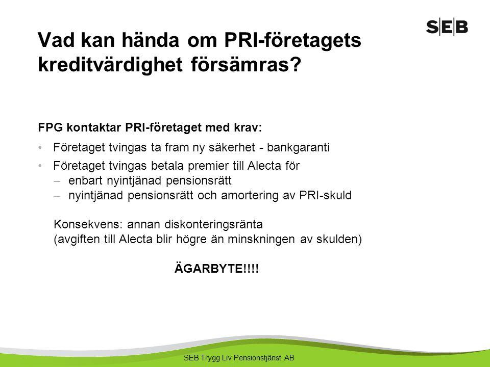 Vad kan hända om PRI-företagets kreditvärdighet försämras
