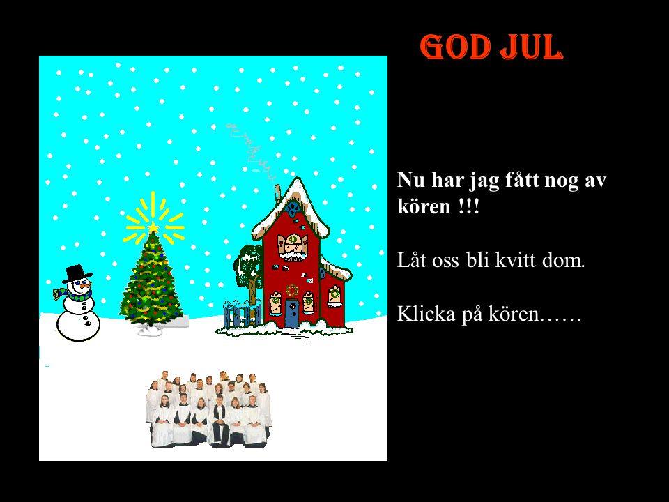 God Jul Nu har jag fått nog av kören !!!