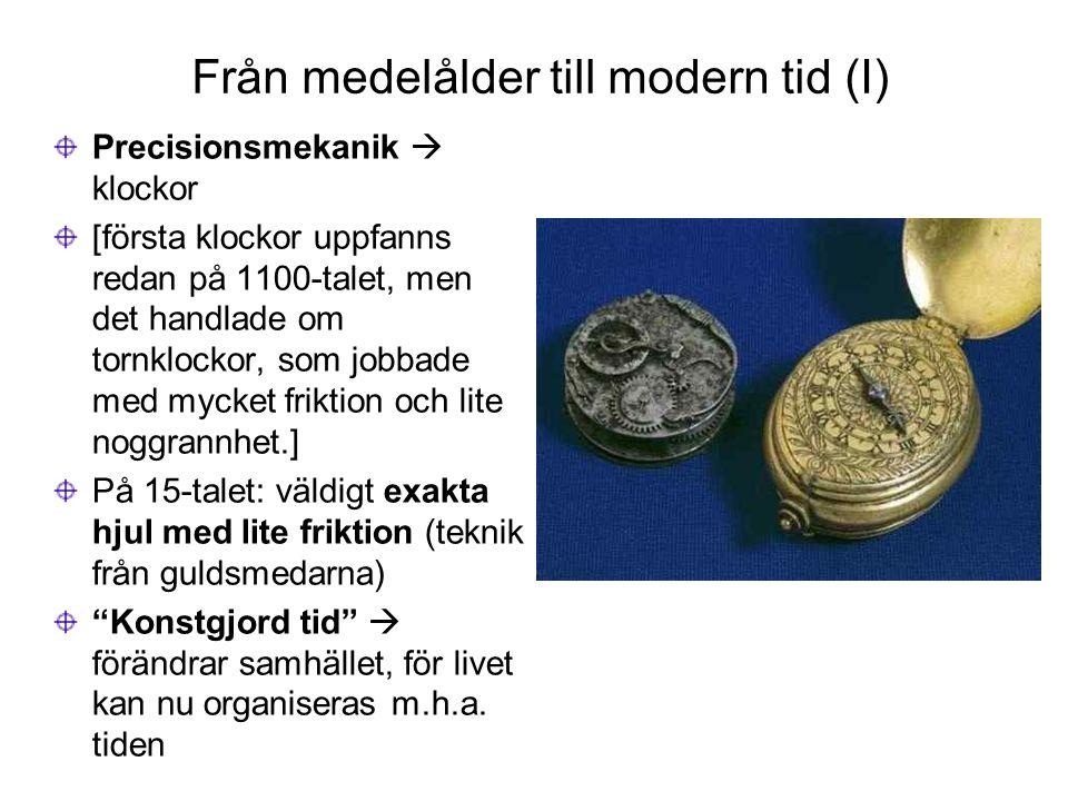 Från medelålder till modern tid (I)
