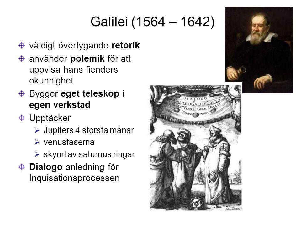Galilei (1564 – 1642) väldigt övertygande retorik