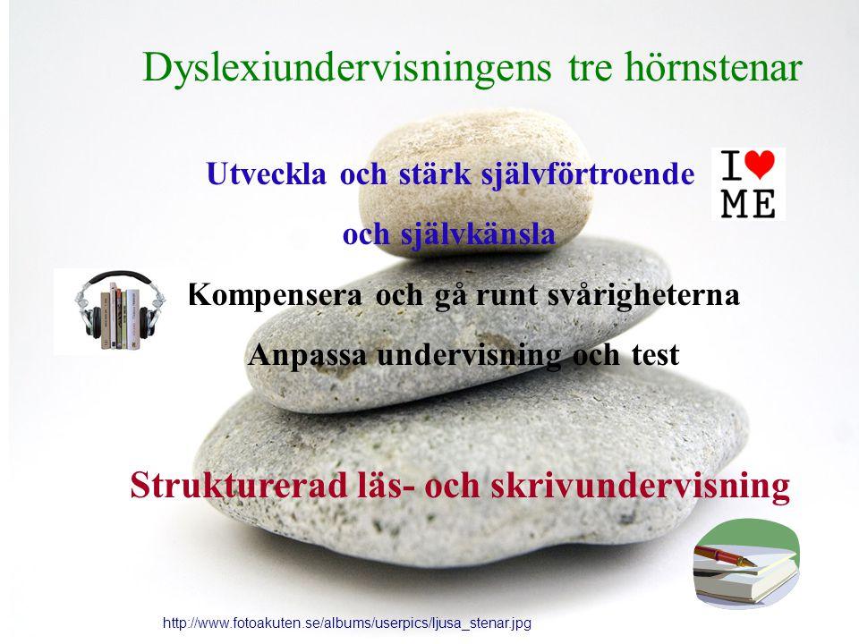 Dyslexiundervisningens tre hörnstenar