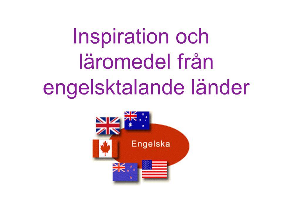 Inspiration och läromedel från engelsktalande länder