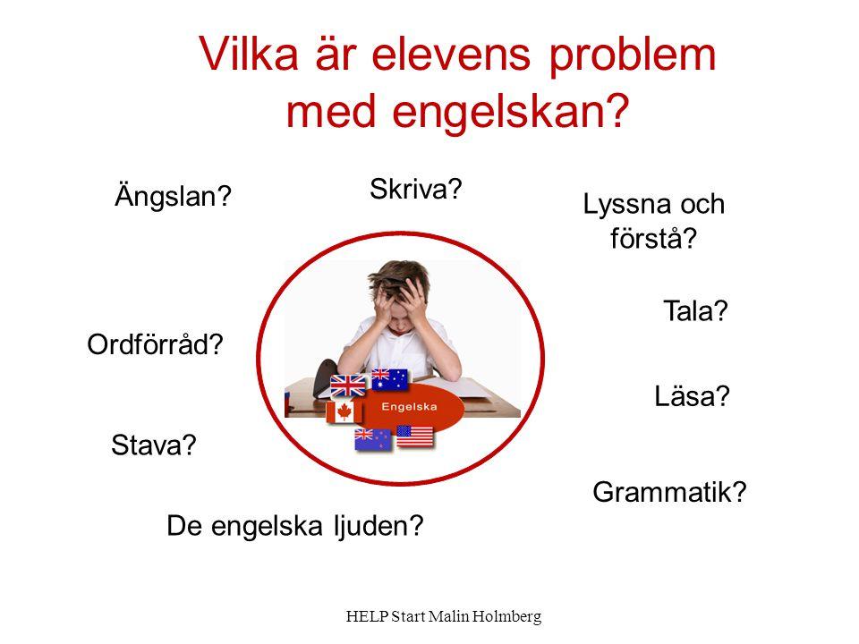 Vilka är elevens problem med engelskan