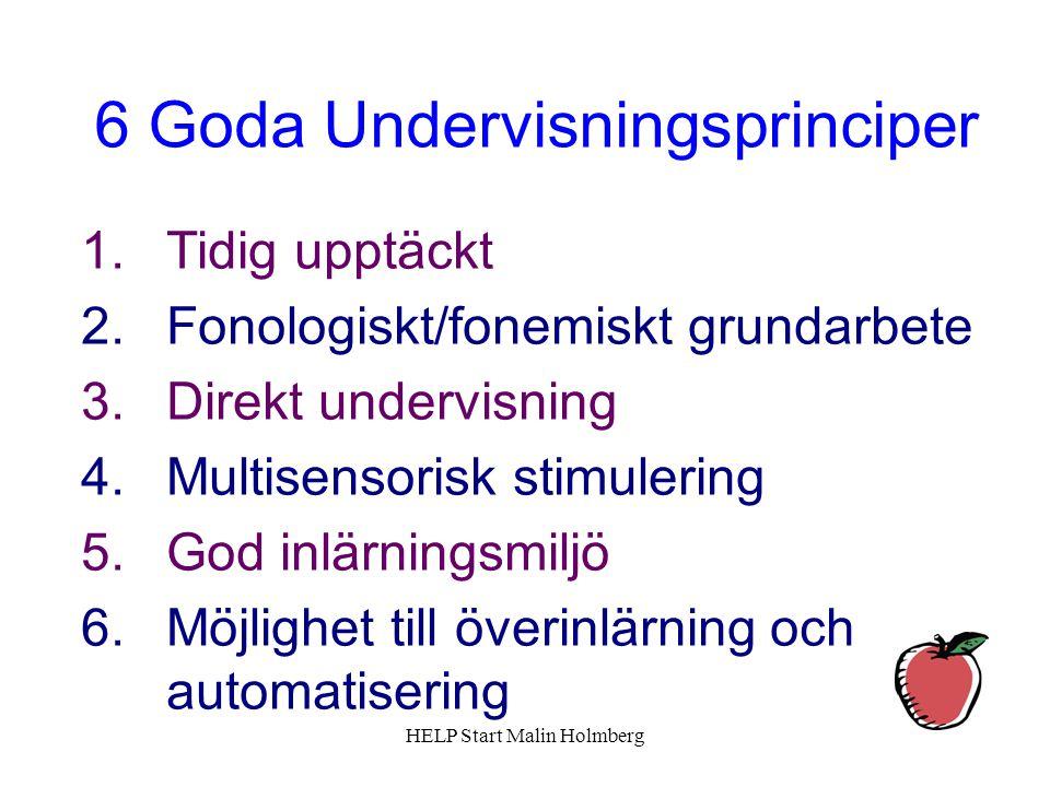 6 Goda Undervisningsprinciper