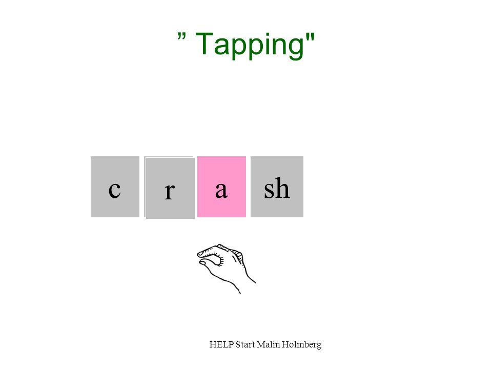 Tapping c c r a sh HELP Start Malin Holmberg