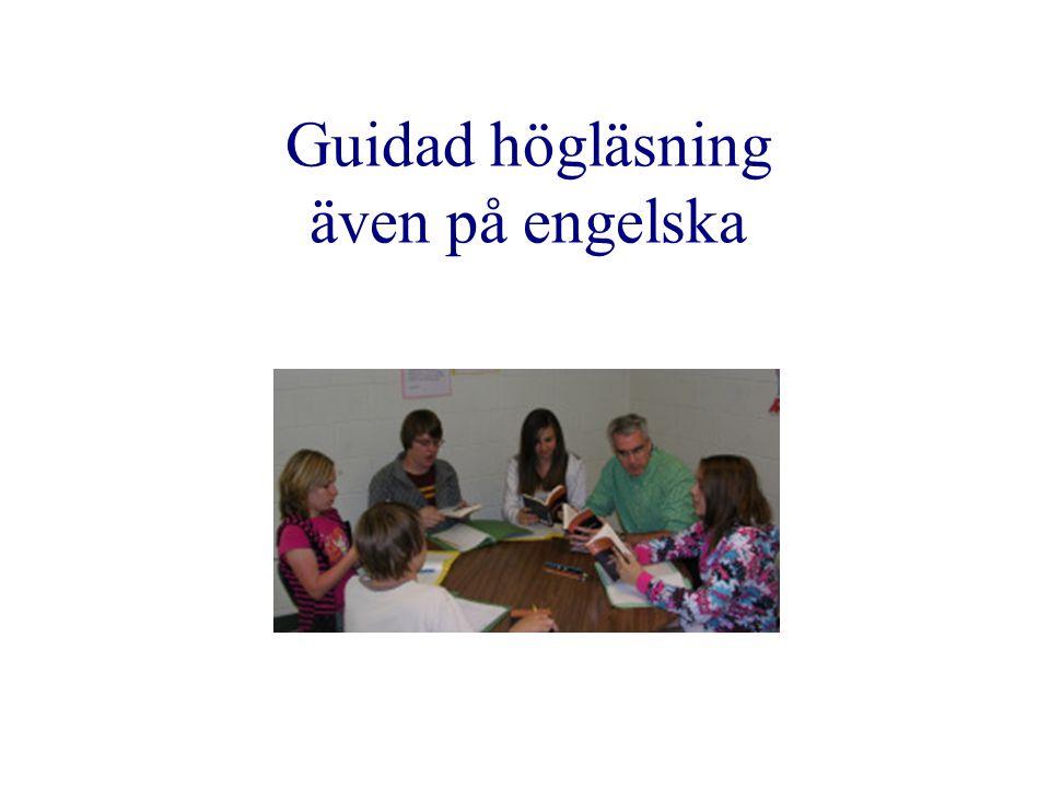 Guidad högläsning även på engelska
