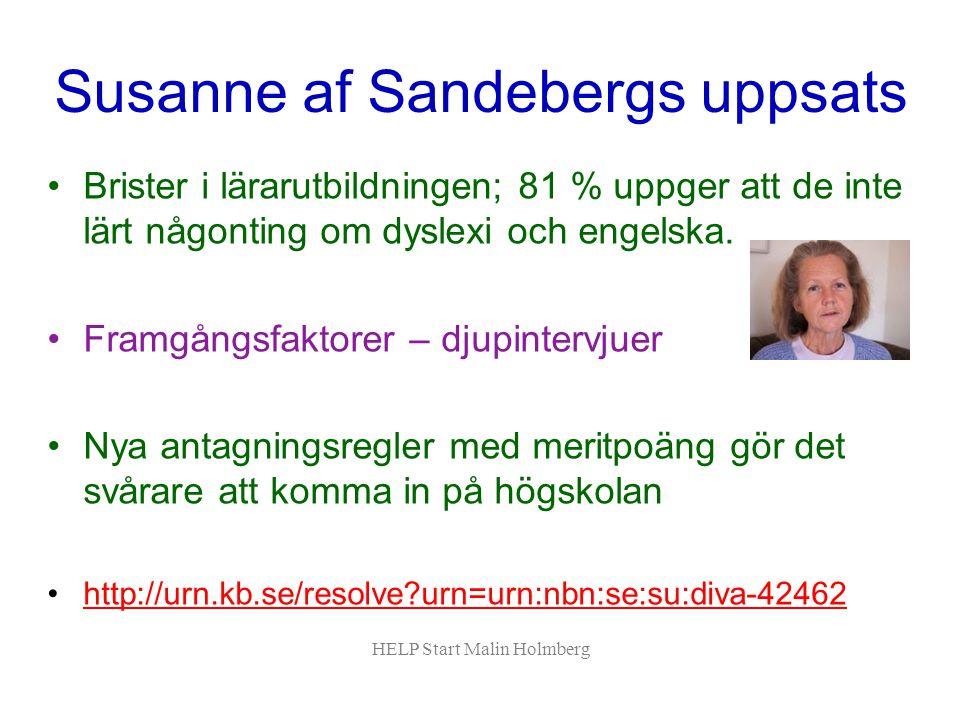 Susanne af Sandebergs uppsats
