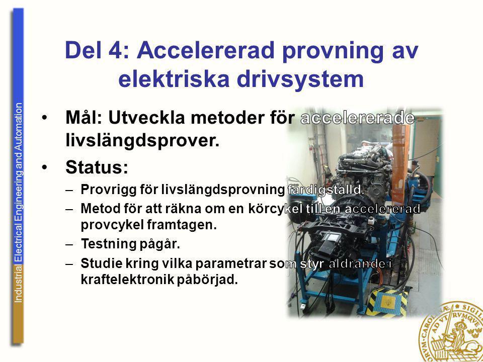 Del 4: Accelererad provning av elektriska drivsystem