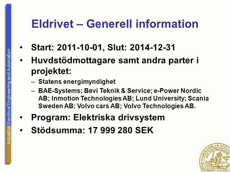 Eldrivet – Generell information