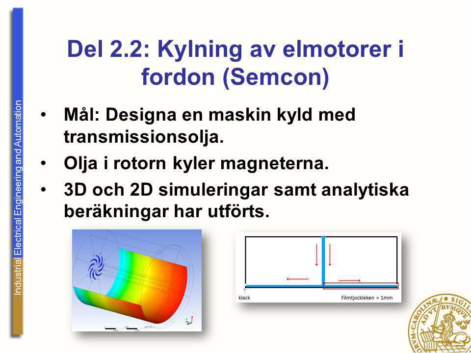 Del 2.2: Kylning av elmotorer i fordon (Semcon)