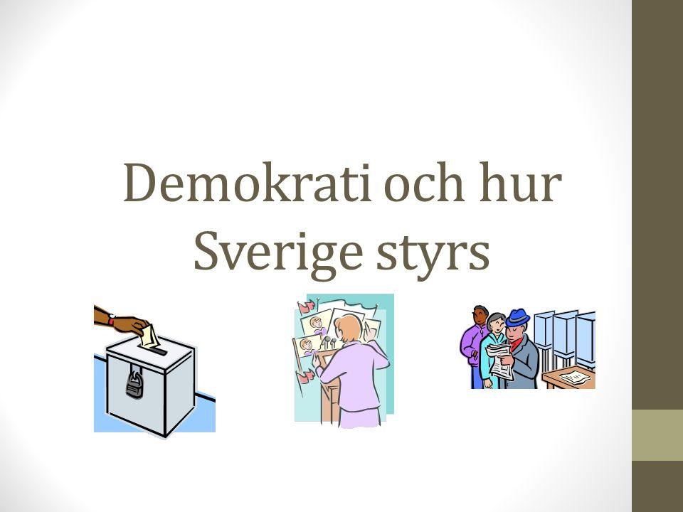 Demokrati och hur Sverige styrs