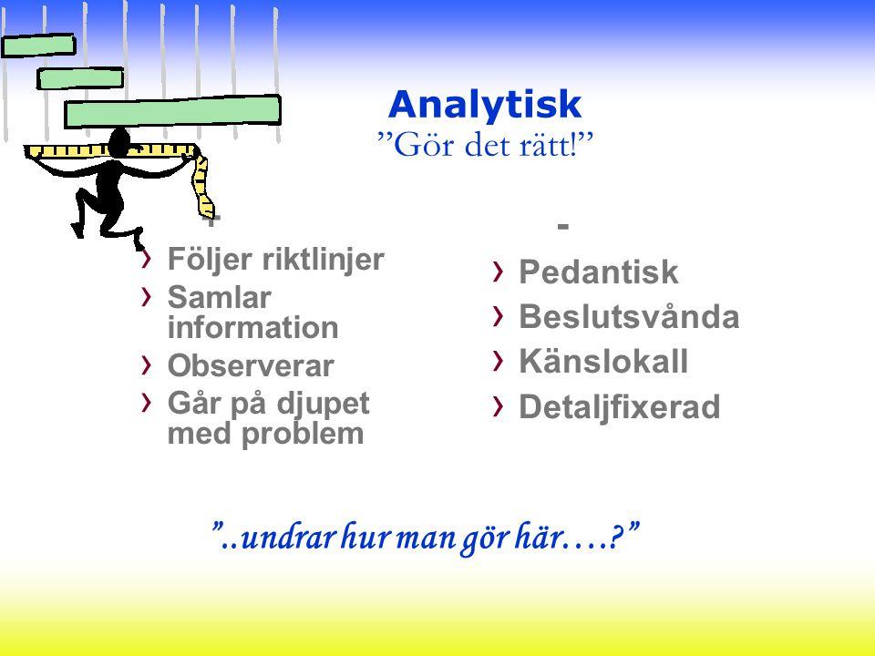 Analytisk Gör det rätt!
