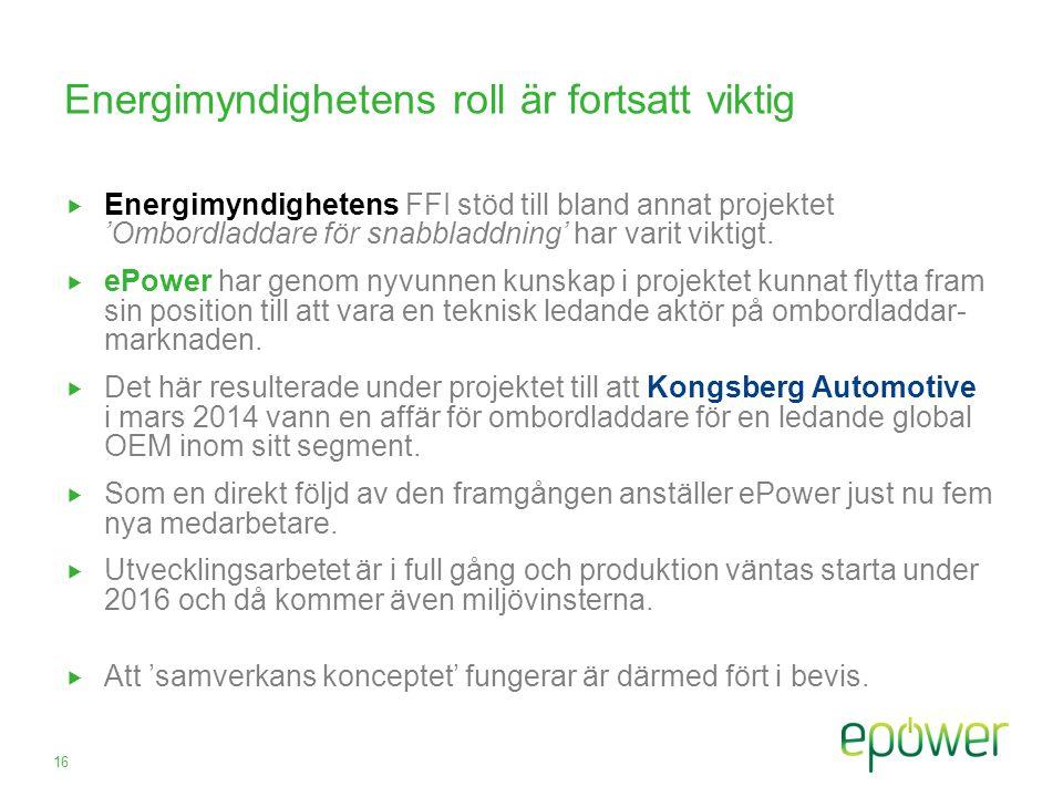 Energimyndighetens roll är fortsatt viktig