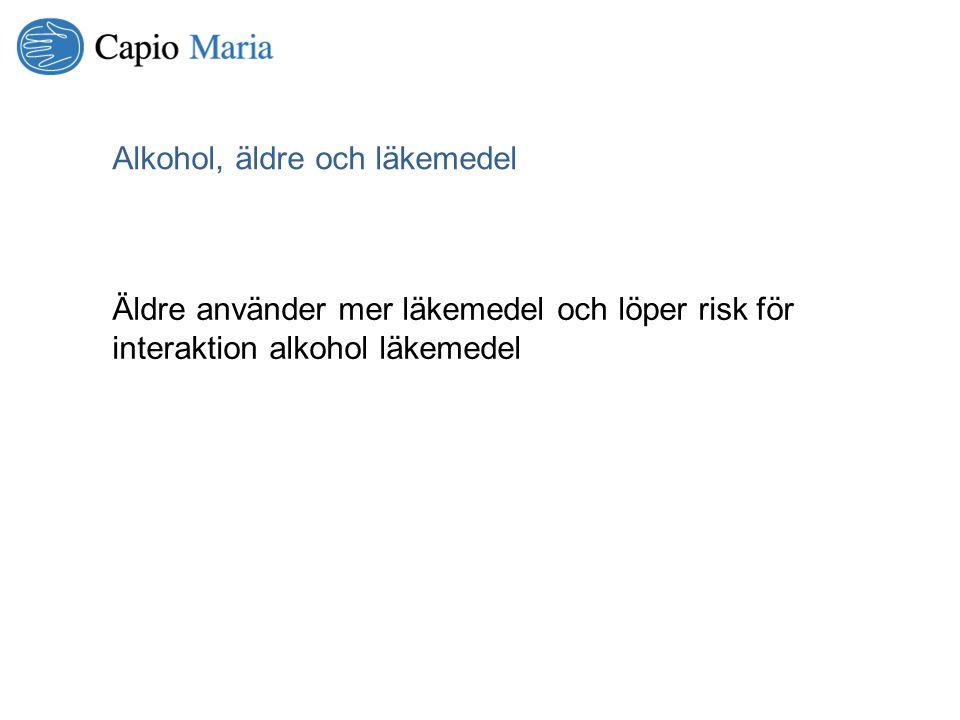 Alkohol, äldre och läkemedel