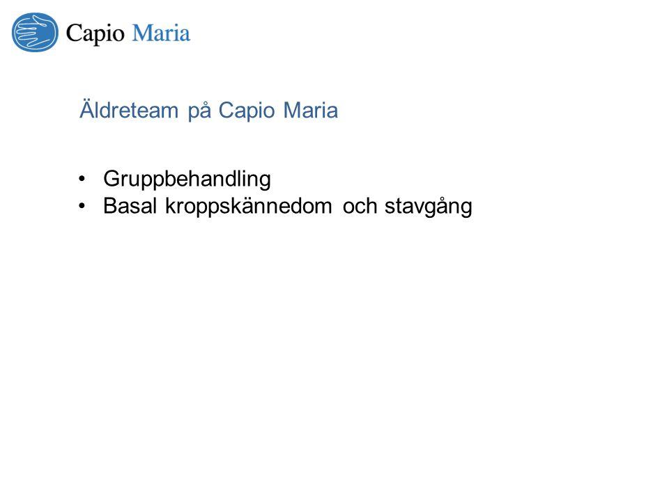 Äldreteam på Capio Maria