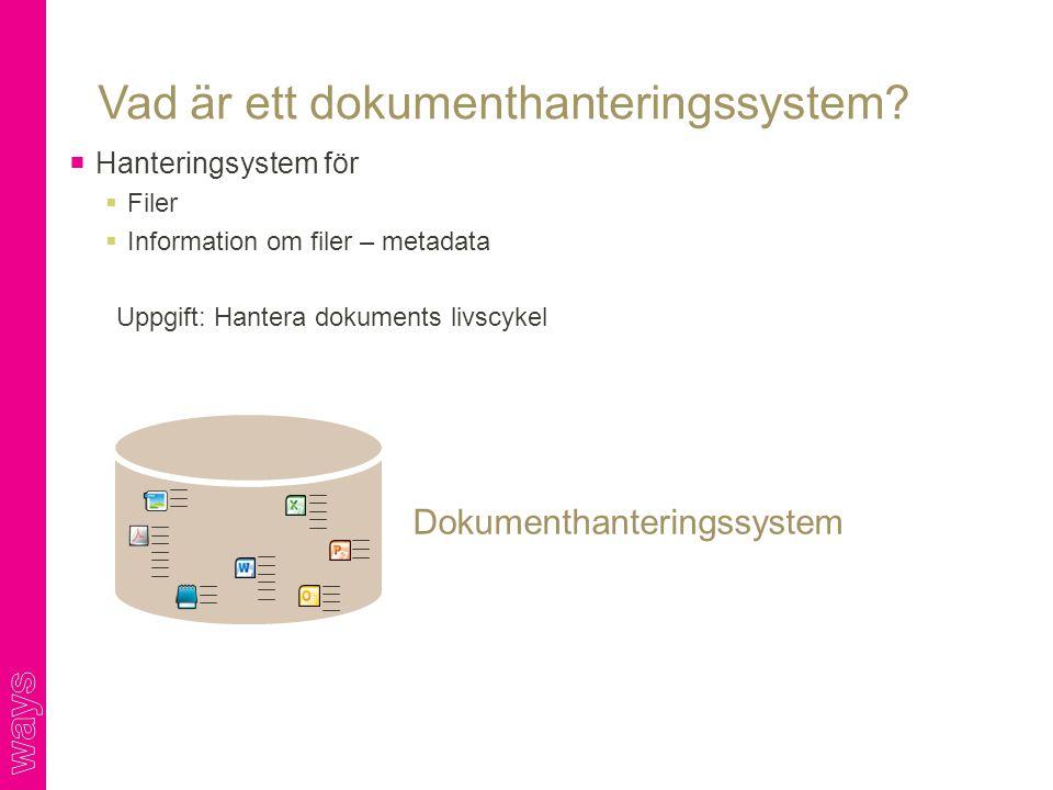 Vad är ett dokumenthanteringssystem