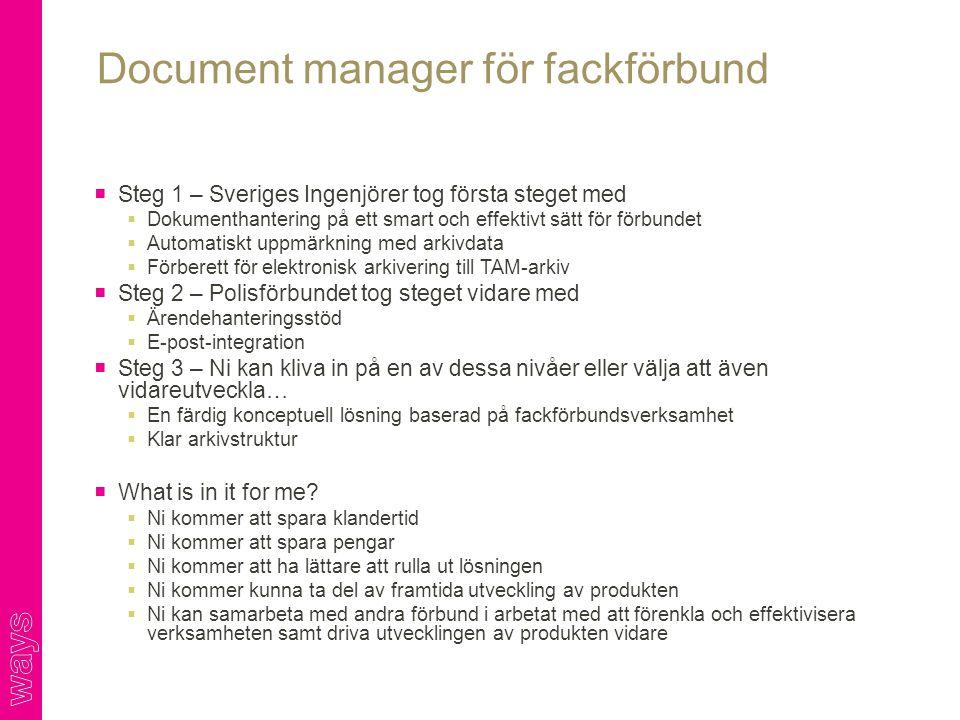 Document manager för fackförbund