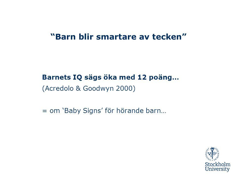 Barn blir smartare av tecken