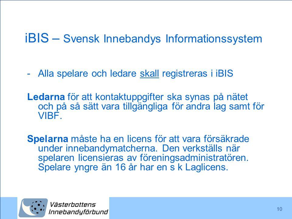 iBIS – Svensk Innebandys Informationssystem