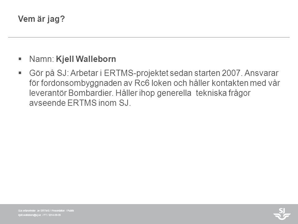 Vem är jag Namn: Kjell Walleborn.