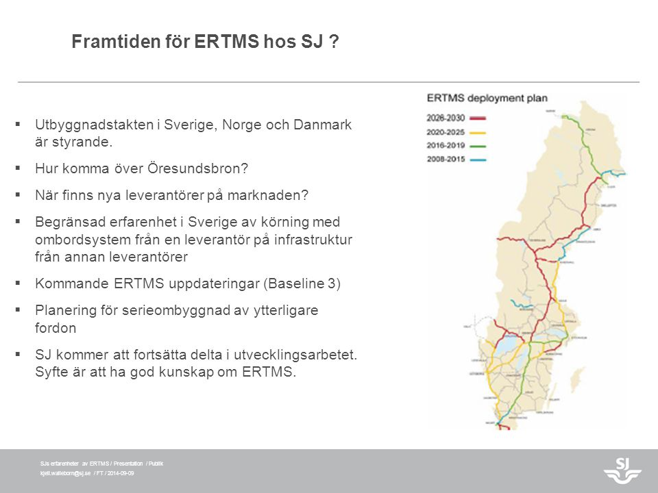 Framtiden för ERTMS hos SJ