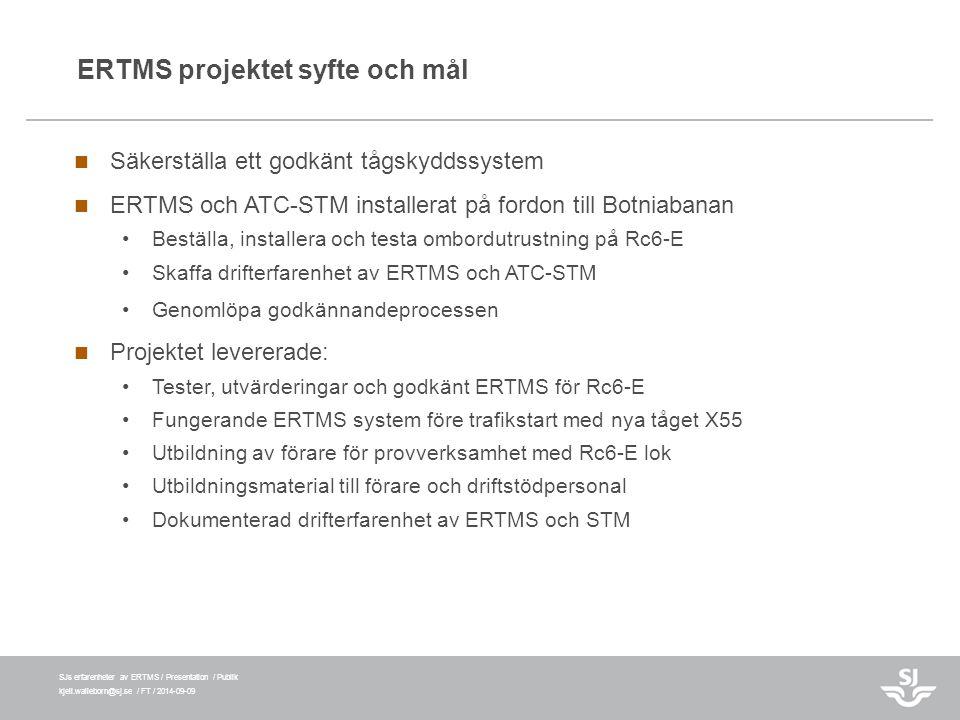 ERTMS projektet syfte och mål