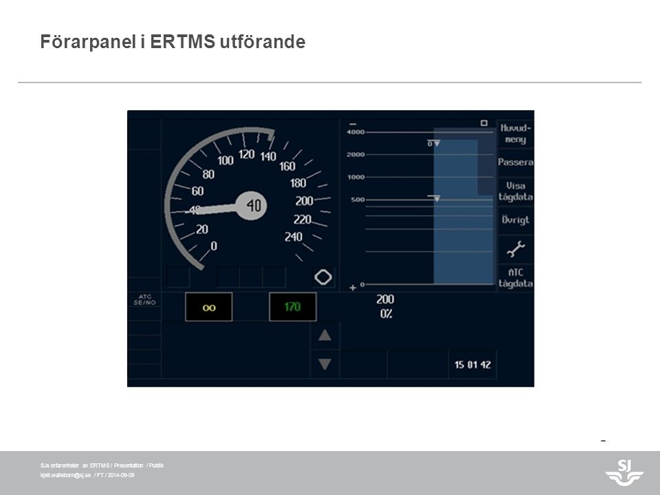 Förarpanel i ERTMS utförande