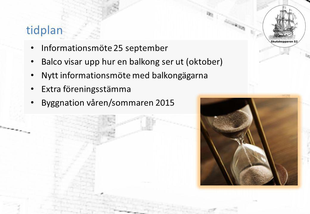 tidplan Informationsmöte 25 september