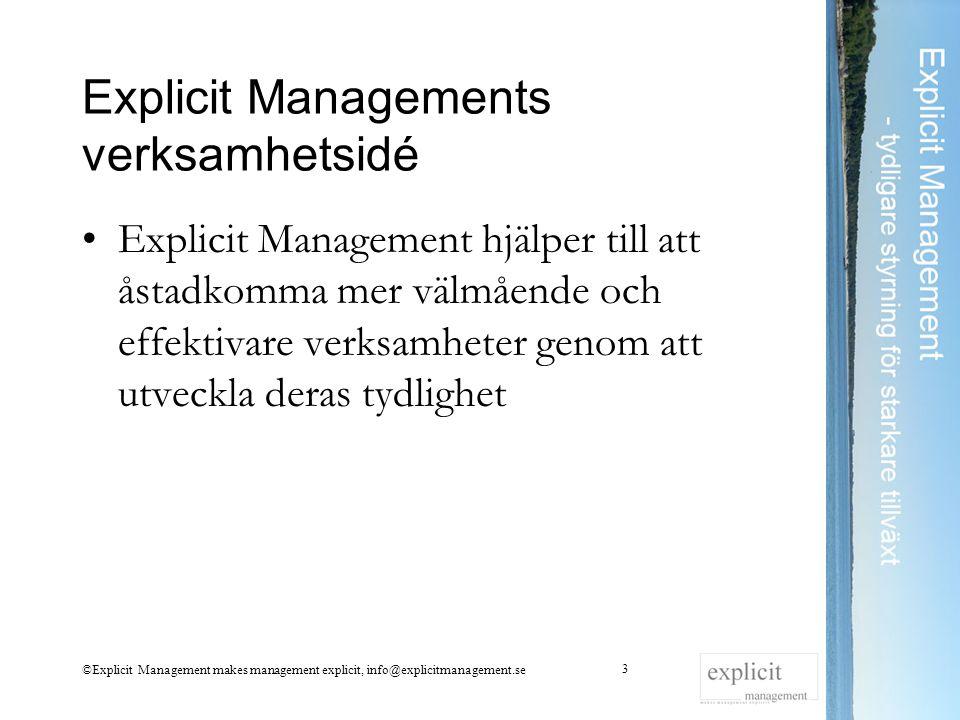 Explicit Managements verksamhetsidé