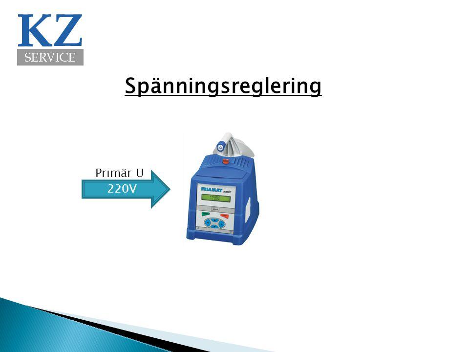 Spänningsreglering Primär U 220V