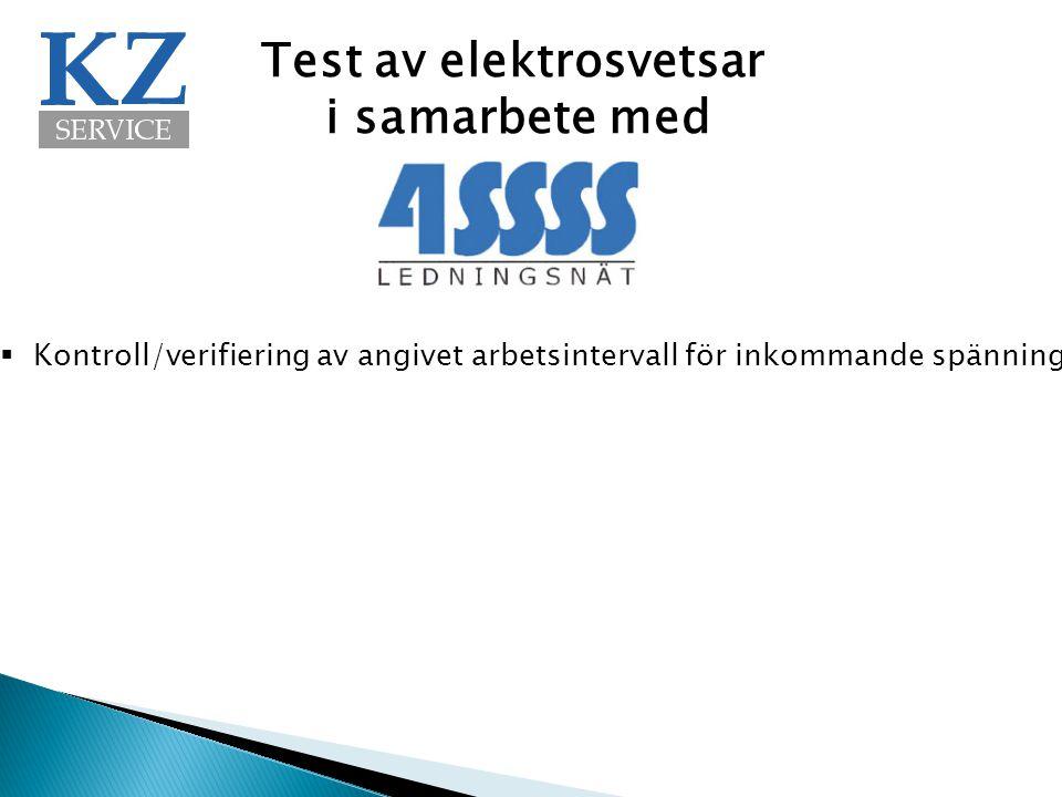 Test av elektrosvetsar