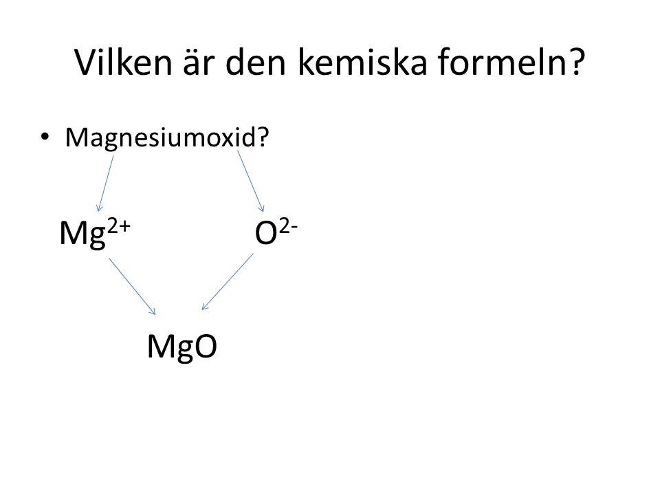Vilken är den kemiska formeln