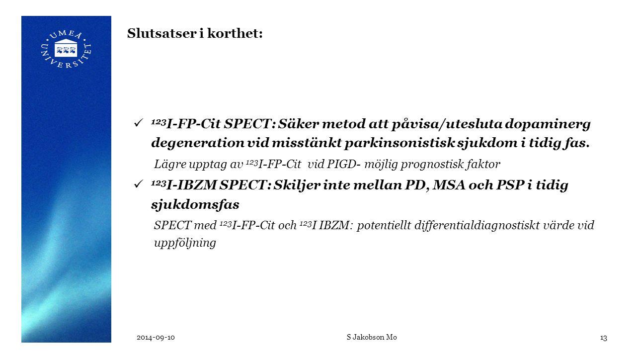 2012-05-28 Slutsatser i korthet: