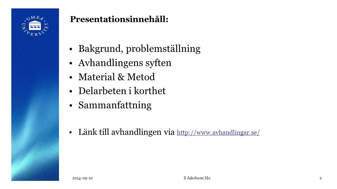 Presentationsinnehåll: