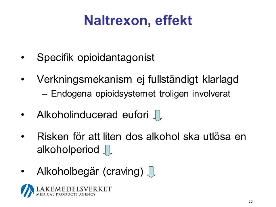 Naltrexon, effekt Specifik opioidantagonist