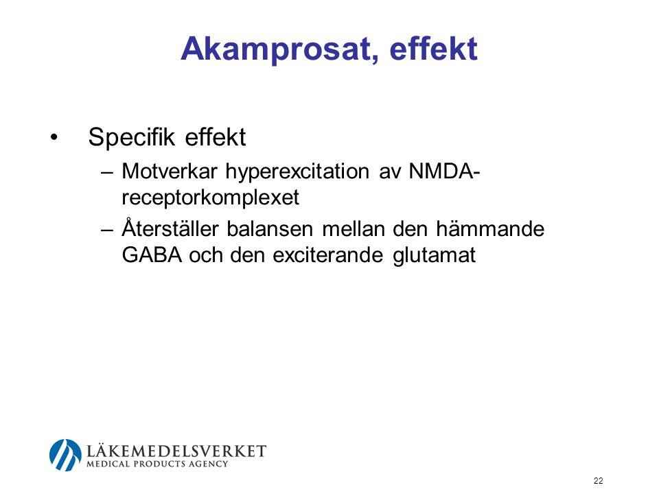 Akamprosat, effekt Specifik effekt