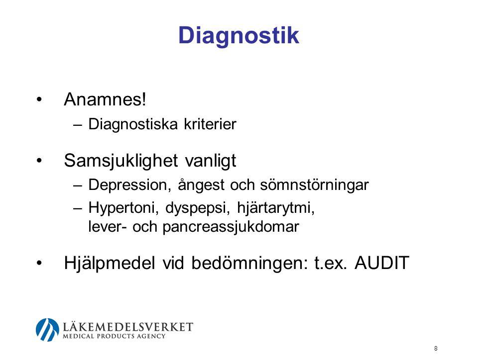 Diagnostik Anamnes! Samsjuklighet vanligt