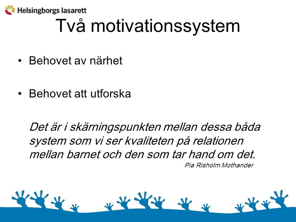 Två motivationssystem