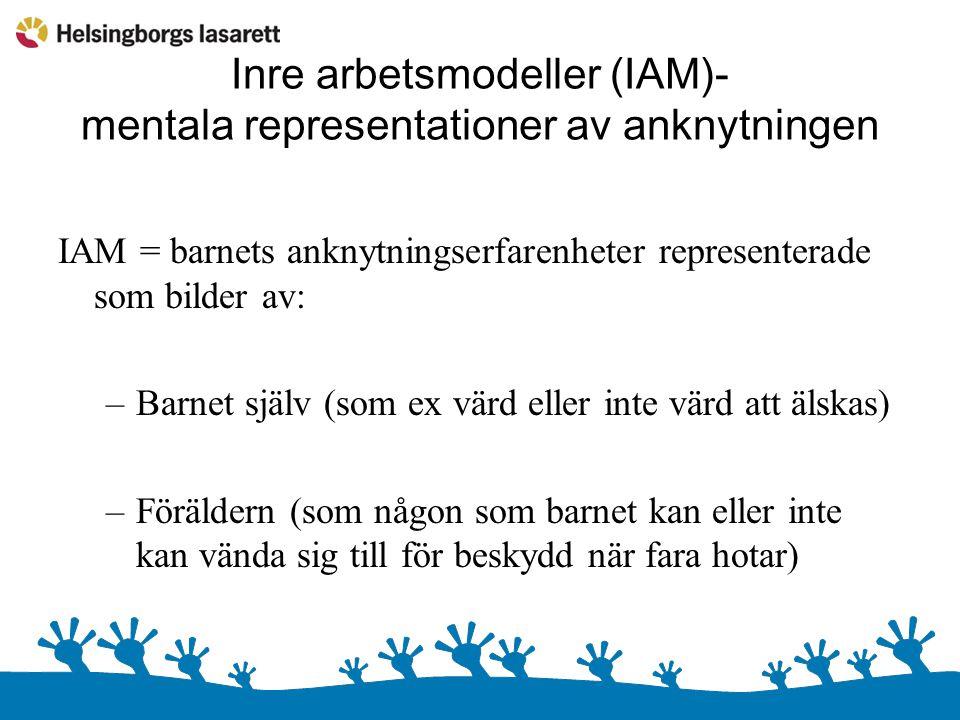 Inre arbetsmodeller (IAM)- mentala representationer av anknytningen