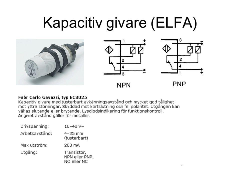 Kapacitiv givare (ELFA)
