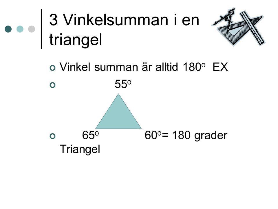 3 Vinkelsumman i en triangel