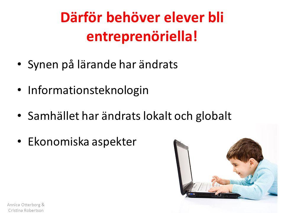 Därför behöver elever bli entreprenöriella!