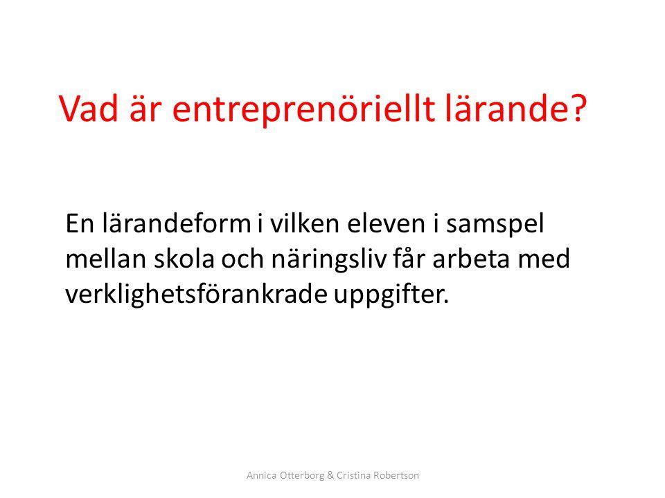 Vad är entreprenöriellt lärande