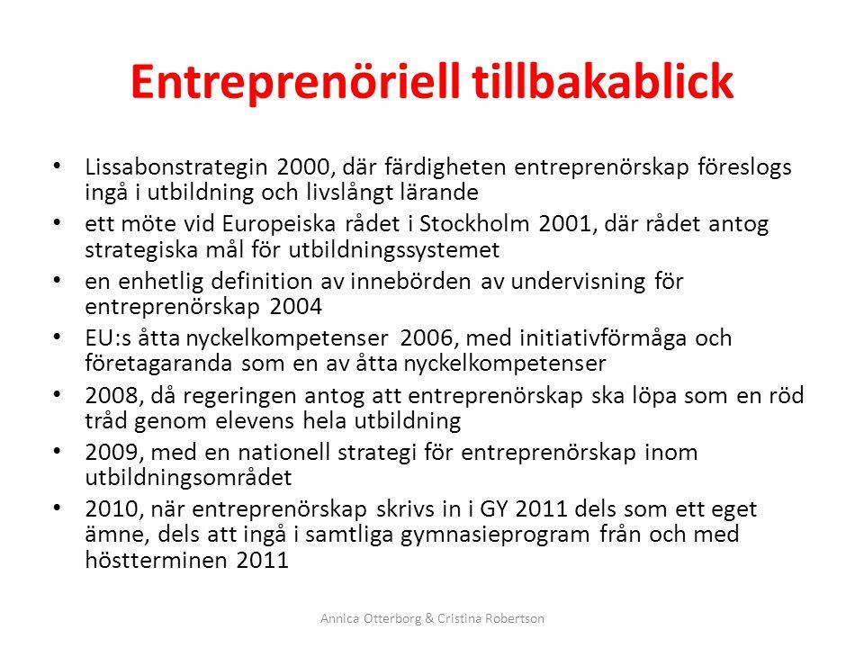 Entreprenöriell tillbakablick