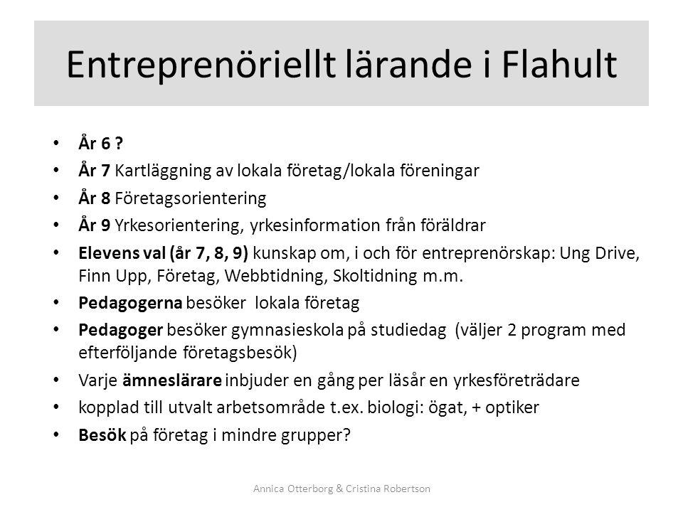 Entreprenöriellt lärande i Flahult