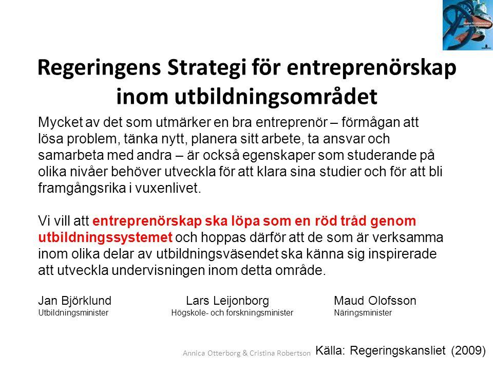 Regeringens Strategi för entreprenörskap inom utbildningsområdet